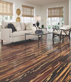 Tiger Striped Bamboo Flooring