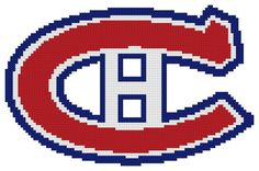 Counted Cross Stitch Pattern, Montreal Canadiens Logo – The Cross Stitch Guy Counted Cross Stitch Patterns, Cross Stitch Charts, Cross Stitch Designs, Cross Stitch Embroidery, Montreal Canadiens, Hockey Logos, Hand Designs, Plastic Canvas, Cross Stitching