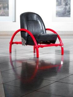 Ron Arad - a 'Rover' chair, 1981, with tubular... on MutualArt.com