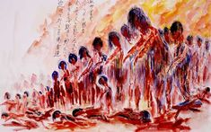 Hiroshima survivor drawing. So disturbing and devastating it must have been to have been there to witness people walking around like this...