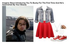 """Imagine Steve Introducing You To Bucky For The First Time And He's Astonished By Your Beauty"" by alyssaclair-winchester ❤ liked on Polyvore featuring H&M, maurices, Converse, Estella Bartlett and Accessorize"