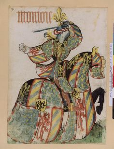 Petit armorial équestre de la Toison d'or MS Clairambault 1312, Fol. 265(v?), ~1460-70