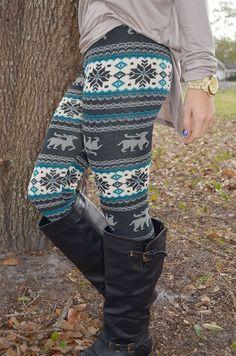 It'll Be A Blue Christmas Leggings: Multi
