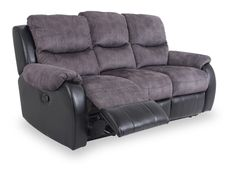 Onyx 3 seater sofa with 2 manual recliner actions