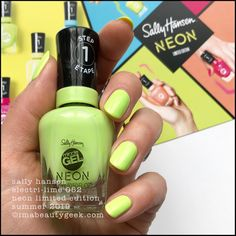 Another neon collection for Summer This one is the Sally Hansen Miracle Gel Neon Collection that should be in-store all over the place as of right, right now. Neon Nail Colors, Neon Nails, Sally Nails, When I Grow Up, Sally Hansen, Easy Paintings, Nail File, Mani Pedi, All Things Beauty