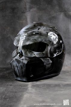 Punisher Airbrushed Motorcycle Helmet 2