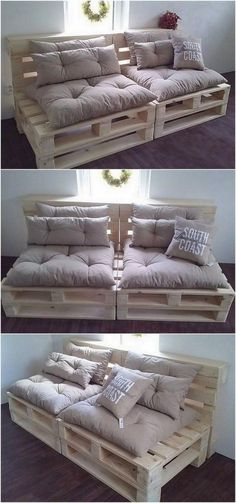 If you are looking for Diy Projects Pallet Sofa Design Ideas, You come to the right place. Here are the Diy Projects Pallet Sofa Design Ideas. Diy Pallet Sofa, Diy Pallet Furniture, Diy Pallet Projects, Cool Furniture, Outdoor Pallet, Furniture Ideas, Garden Pallet, Wood Pallet Beds, Pallet Ideas For Home