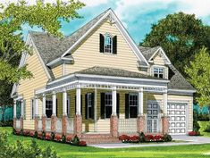 Craftsman House Plan with 1539 Square Feet and 2 Bedrooms(s) from Dream Home Source | House Plan Code DHSW53357