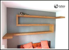 20 Ideas of wooden shelves you will love - Decor Units Wooden Shelves, Floating Shelves, Bookshelves, Indoor, The Unit, Bedroom, Design, Home Decor, Image