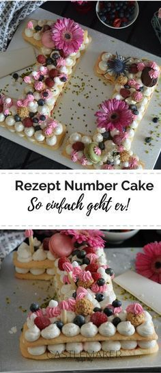 [Recette] Number Cake Facile + Gabarits & Astuces Joconde is a light and airy sponge cake that you can use to make many types of desserts. Joconde does not have a lot of fat in it and is considered to be a healthy version of a traditional cake. Number Birthday Cakes, 25th Birthday Cakes, Bithday Cake, Number Cakes, Big Cakes, Food Cakes, Cake Trends 2018, Marzipan Creme, Alphabet Cake