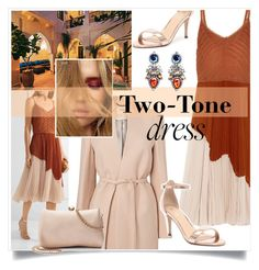"""Two-Tone Dress"" by judysingley-polyvore ❤ liked on Polyvore featuring Jason Wu, Verali, LC Lauren Conrad and twotonedress"