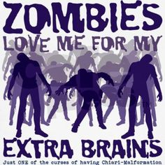 Zombies Love Me for my Extra Brains Jr. Raglan