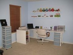I created my ultimate scrapbooking space for about 50 bucks!  Really want to take this futher
