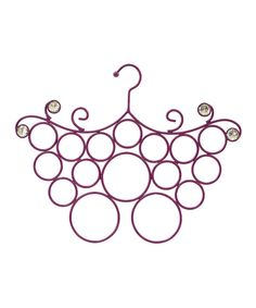 Look at this Purple Jeweled Scarf Holder on #zulily today!