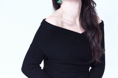 Fashionology-Earrings-Pull-epaules-decouvertes-Romwe-Jean-Topshop