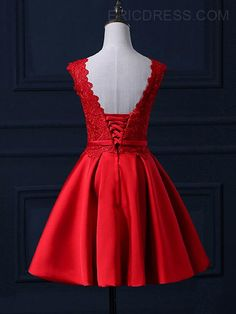 Ericdress Scoop Neck Bowknot Lace Cocktail Dress 2