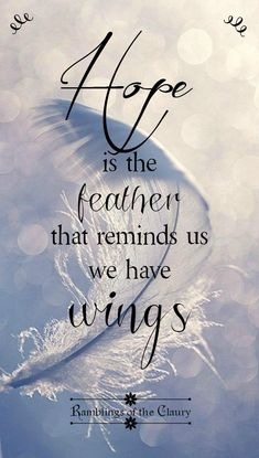 Hoffnung ist die Feder, die uns daran erinnert, dass wir Flügel haben ❤ Hope is the feather that reminds us we have wings Fly Quotes, Quotes To Live By, Motivational Quotes, Life Quotes, Spiritual Quotes, Positive Quotes, Feather Quotes, Quotes About Feathers, Feather Signs