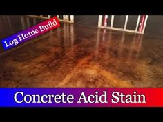 How to Apply an Acid Stain - YouTube