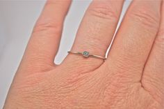 Square Princess Cut White Gold Ring Solid 14k by JLaurynDesign