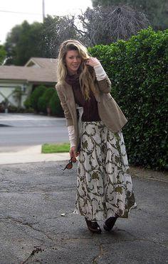Long skirt, jacket..
