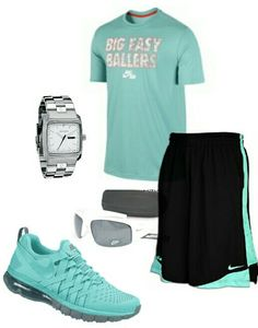 S summer nike outfit things to wear мужская мода, одежда Big Men Fashion, Nike Fashion, Sport Fashion, Fitness Fashion, Fashion Outfits, Fashion Fashion, Style Fitness, Gym Style, Moda Fitness