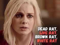 """""""Dead Rat, Live Rat, Brown Rat, White Rat"""" - Liv's becoming a liability to her loved ones. See who's most affected on the latest List Of Tv Shows, New Shows, Movies And Tv Shows, Brown Rat, I Zombie, Watch Full Episodes, Eva Green, The Cw, Baby Daddy"""
