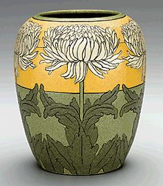 Paul Revere Pottery of the   Saturday Evening Girls (1908–42),   executed by Ida Goldstein (b. 1894),   vase, Boston and Brighton, Mass., ca. 1911 – 1914  Earthenware