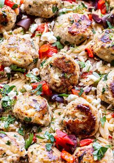 Ground Beef Recipes, Turkey Recipes, Meat Recipes, Paleo Recipes, Healthy Dinner Recipes, Healthy Meals, Chicken Recipes, Healthy Eating, Greek Orzo Salad