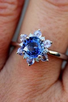 eidel precious engagement rings floral style sapphires engagement ring