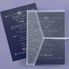 Red, White and Blue Wedding Ideas - Sheer Expression Invitation - Midnight (Invitation Link - http://occasionsinprint.carlsoncraft.com/Weddings/Invitations/3149-RRN4225AUMD-Sheer-Expression-Invitation--Midnight.pro) #redwhiteblueweddings