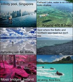 All of those places would be amazing to go to. But I think the Flathead Lake looks out of this world. Vacation Places, Dream Vacations, Vacation Spots, Beautiful Places To Travel, Cool Places To Visit, Amazing Places, I Want To Travel, Destination Voyage, All Nature