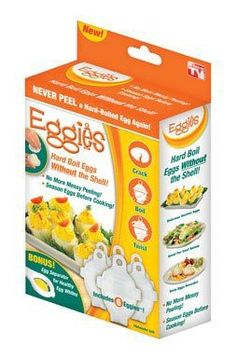 Eggies Hard-Boiled Egg Cooker White - http://sleepychef.com/eggies-hard-boiled-egg-cooker-white-2/
