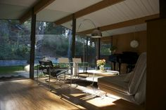 One of the stops on the San Mateo Highlands Eichler Home Tour, May 3 and 4.  The event features a lounge outfitted in midcentury furnishings...