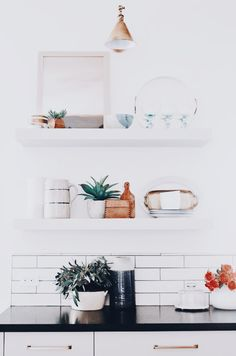 Home decor - exposed shelving goals