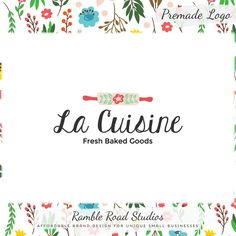 Premade Baking Logo Design & Blog Header - Web, Blog, Marketing, Print - Limited Edition! Perfect For Baker, Cooking Class, Food Blog