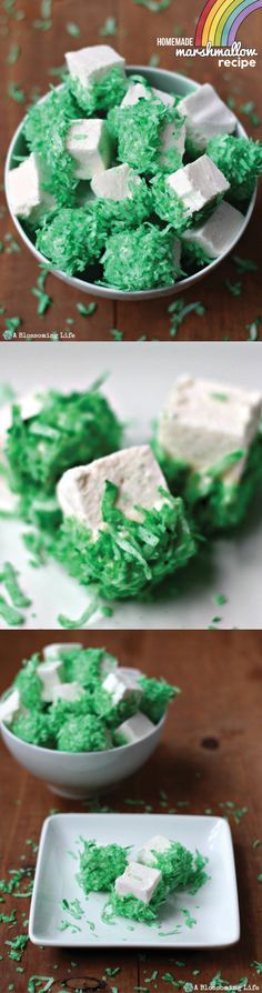 Marshmallows for St Patrick's Day