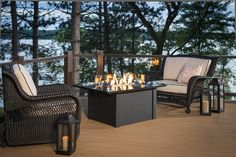 Complete your deck with a firepit and furniture from Wissota Outdoor Living!