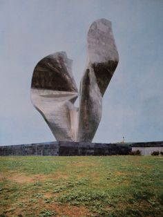 Spomenik of the Revolutionary Victory of the People of Slavonia by Vojin Bakić / Papuk , #Croatia / officially opened 1968th, it was  the largest abstract sculpture in the world. / Destroyed during the war in 1992.  #socialist #spomenik