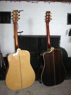 Blondie (Tiger Flame Maple) & Rosie (Rosewood)