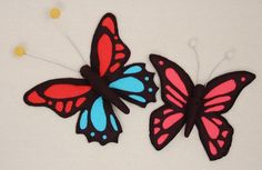 Using my X-ACTO knife to make a cutwork felt butterfly Hand Embroidery, Machine Embroidery, Fun Crafts, Arts And Crafts, Felt Diy, Cutwork, Craft Tutorials, Fun Projects, Felt