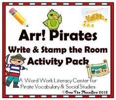 This fun, pirate themed activity pack will help your students practice reading, writing, & vocabulary!
