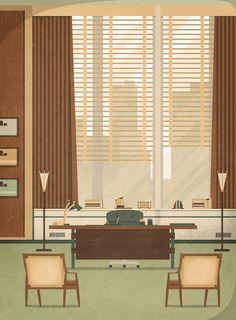 Mad Men - Don Draper's Office Art Print