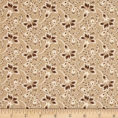 Hold 'Em or Fold 'Em Bandana Floral Tan from @fabricdotcom  Designed by Rachel Shelburne for Maywood Studio, this cotton print fabric is perfect for quilting, apparel and home decor accents. Colors include tan, brown and ivory.