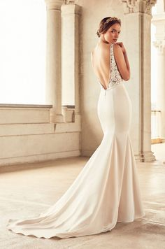 Sheer Bodice Wedding Dress - Style #4787   Paloma Blanca