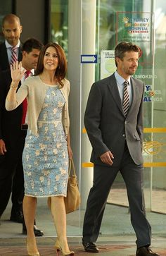 Princess Mary in Sydney wearing Collette Dinnigan, 2013
