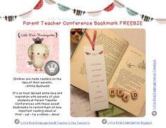Parent Teacher Conference Bookmark FREEBIE!