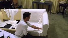 how to make a sectional slipcover - YouTube