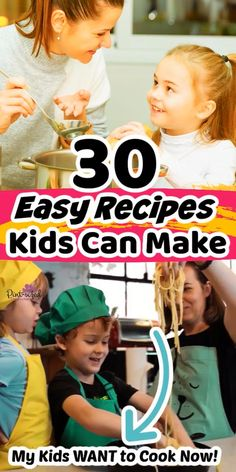 Recipes Kids Can Make, Easy Meals For Kids, Cooking With Kids, Cooking Tips, Cooking Recipes, Recipe For 2, Kid Meals, All Family, Parenting Hacks
