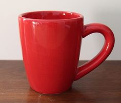 """Tabletops Unlimited Espana Red Coffee Cup Mug Hand Painted Collection 4 1/2"""" #TabletopsUnlimited"""