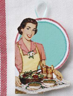 Retro Kitchen  Decor~Glittered Wooden Ornament~ Kitsch~ MMmm Good!~ Soup~ Mother